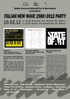 Spittle Reecord: Italian new wave 1980 - 2012 party
