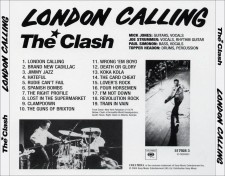 The Clash - London Calling [25th Anniversary Edition] Back [Original LP]
