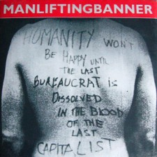 Man Lifting Banner 10'' Ten Inches