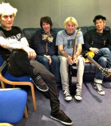 UK Subs in studio