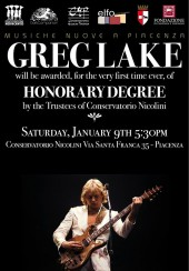 Greg Lake Honorary degree