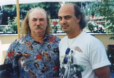 with David Crosby, Milano, 1998